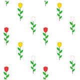 Illustration simple de modèle de fleur de tulipe Photographie stock libre de droits