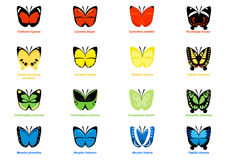 Illustration simple de papillons Image libre de droits