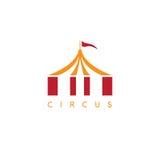 Illustration simple de vecteur avec la tente de cirque Images stock