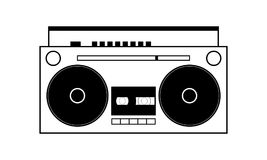 Illustration simple de vecteur de boombox Image libre de droits