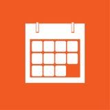 Illustration simple de vecteur d'icône de calendrier Photo stock
