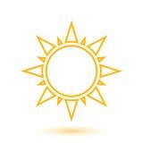 Illustration simple du soleil abstrait Photographie stock