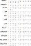 Illustration of a Simple 2015 year calendar. An Illustration of a Simple 2015 year calendar Royalty Free Illustration