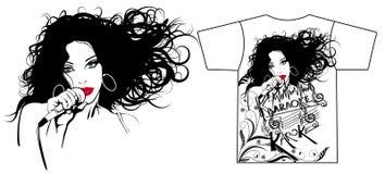 Illustration of a singer Stock Image