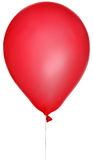 Illustration with single red balloon isolated on white Royalty Free Stock Images