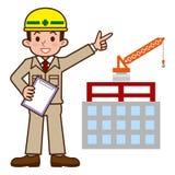 Illustration of Site supervisor Stock Images