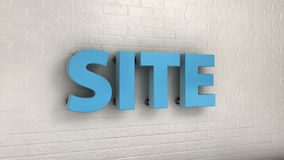 Illustration of SITE word on the wall, business concept. 3d illustration of SITE word on the wall, business concept Stock Photos