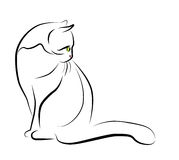 Illustration of sitting cat Royalty Free Stock Photography