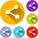 Six share icons Stock Photography