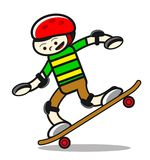 Illustration of skaterboy Royalty Free Stock Photography