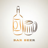 Illustration sketch of beer Royalty Free Stock Photos