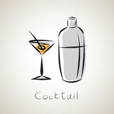Illustration sketch of cocktail Royalty Free Stock Image