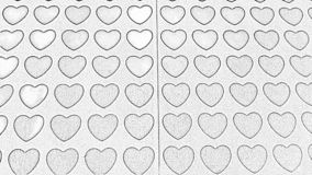 Illustration. Sketch of many heart-shaped design agains white paper backround royalty free stock photos