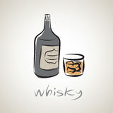 Illustration sketch of whiskey Stock Photography