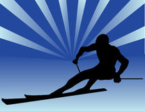 Illustration of skier Royalty Free Stock Photography