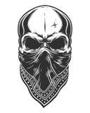 Illustration of skull in bandana on face Royalty Free Stock Photos