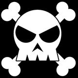 Illustration of a skull Royalty Free Stock Images