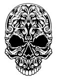 Illustration of a skull with patterns. Graphic illustration Stock Photography