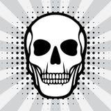 Illustration of skull on pop art background Stock Photo