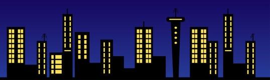 illustration skyline Στοκ φωτογραφίες με δικαίωμα ελεύθερης χρήσης