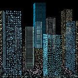 Illustration skyscrapers Stock Images