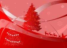 illustration with sleigh Royalty Free Stock Photography