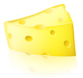 Cartoon cheese illustration Stock Photography