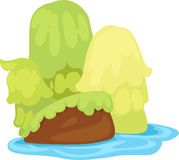 Illustration Small island. On white background Stock Image