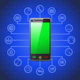 Illustration of smart phone tool icons Royalty Free Stock Photo
