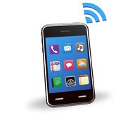 Illustration of smart phone wireless Royalty Free Stock Photo