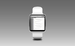 Illustration of smart watch with coding on screen Stock Image