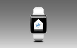 Illustration of smart watch with e-mail letter icon Royalty Free Stock Image