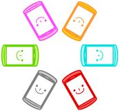 Illustration of the smartphone. This is an illustration of a smartphone Royalty Free Stock Photos