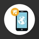 Illustration of smartphone design, editable vector Stock Images