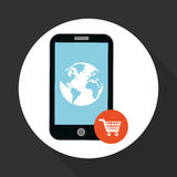 Illustration of smartphone design, editable vector Royalty Free Stock Images