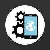 Illustration of smartphone design, editable vector Stock Photos