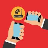 Illustration of smartphone design, editable vector Stock Photography