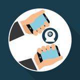 Illustration of smartphone design, editable vector Royalty Free Stock Photos