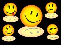 Illustration of smiles Stock Photos