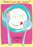 illustration smiling dish background Royalty Free Stock Photo