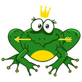 Illustration of a smiling frog Royalty Free Stock Image