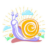 Illustration of a snail Royalty Free Stock Photography