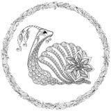 Illustration of a snail. Stock Photo