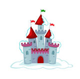 Illustration snow fairytale castle.Vector Illustration Royalty Free Stock Photo