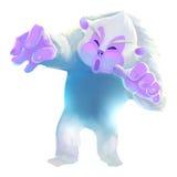 Illustration: Snow Man. Stock Photo