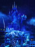 Illustration: The Snow Palace in the Fairy Tale. Royalty Free Stock Image