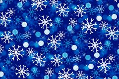 Illustration of snow for winter on blue background. Illustration snow winter blue background snowflakes merry christmas new year happy card greeting concept royalty free illustration