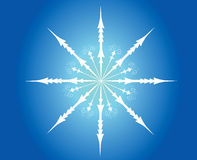 Illustration of snowflake Stock Photography
