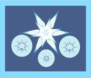 Illustration snowflakes Stock Photo