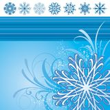 Illustration with snowflakes Royalty Free Stock Images